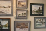 Some of Rudy's welcoming watercolor paintings.